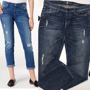 7 for all Mankind Josefina boyfriend jeans size 26